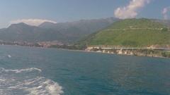 Budva, Montenegro  Adriatic Sea and mountains Stock Footage