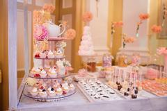 Catering wedding food buffet Stock Photos