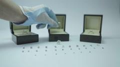 Luxury Diamonds On White Background Stock Footage