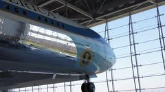 SIMI VALLEY, CALIFORNIA, UNITED STATES - OCT 9, 2014: Air Force One Boeing 707 Stock Photos
