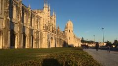 Jeronimos Monastery In Belem, Lisbon Stock Footage