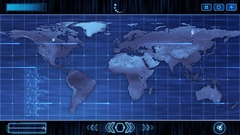 HUD Futuristic World Map 30 seconds not seamless Looping V2 Blue Stock Footage