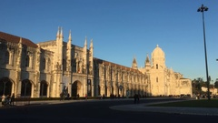 Famous Monastery In Belem City of Lisbon Stock Footage