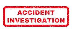 Accident Investigation Rubber Stamp Stock Illustration