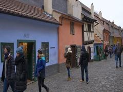 Franz Kafka House at the Golden Lane in Prague, Czech Republic Stock Footage
