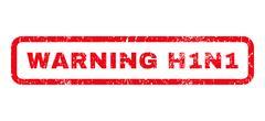 Warning H1N1 Rubber Stamp Stock Illustration