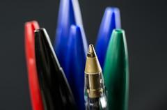 Ballpoint pens Texture Stock Photos