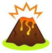 New hand-drawn Illustration with Eruption Stock Illustration