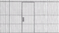 Animation of open and closed Jail bars door isolated on white background Stock Footage