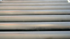 Conveyor moving rolling line, industry diversity. Stock Footage
