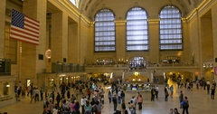 Main hall Grand Central Terminal, New York Stock Footage