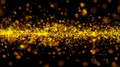 4k Abstract gold particle background Stock Footage