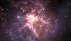 Glowing nebula is the remnant of a supernova explosion Stock Illustration