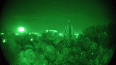 Night vision during a partial blackout Stock Footage