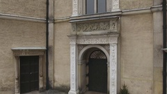 Renaissance castle facade Stock Footage