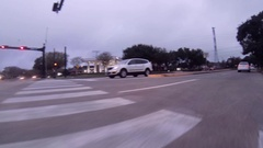 Driving down boulevard forward POV movement GoPro footage Stock Footage