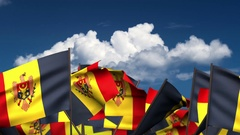 Waving Moldovan Flags Stock Footage