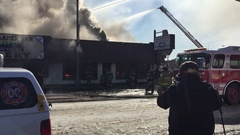 Historic Oklahoma City Stockyards Building Goes Up In Blaze Stock Footage