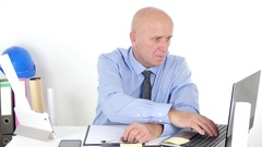 Manager Analyze and Writing Technical Schedule Inside Company Office Room. Stock Footage
