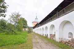 Fortress wall of Saviour Priluki Monastery. Stock Photos