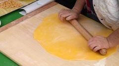 Italian fresh pasta Stock Footage