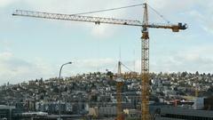 Construction Cranes, Seattle Stock Footage