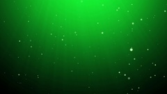 Snow falling winter background green gradient Stock Footage
