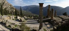 Ancient Greek archaeological site of Delphi,Central Greece. Stock Photos
