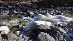 River Ova de Roseg in Switzerland Stock Footage