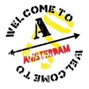 Amsterdam stamp rubber grunge Piirros