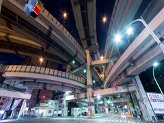 City pedestrian traffic of people crossing at night in Tokyo. Stock Footage