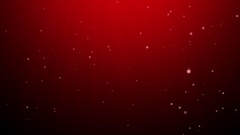Snow falling winter background red gradient light Stock Footage