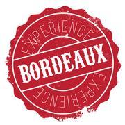 Bordeaux stamp rubber grunge Stock Illustration