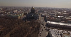 Russia St. Petersburg Spring St .Isaac's Cathedral Stock Footage