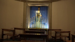 4k Small prayer room in the cellar of Salzburg cathedral Stock Footage