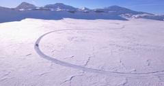 Groomer curve - Aerial 4K Stock Footage