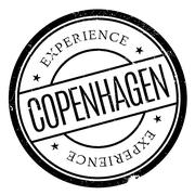 Copenhagen stamp rubber grunge Stock Illustration