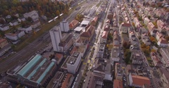 Chaux-de-Fonds back travelling - Aerial 4K Stock Footage