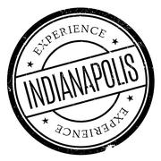 Indianapolis stamp rubber grunge Piirros