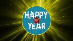 Grunge Happy New Year Text Title Stock Footage