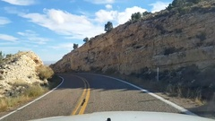 Driving view on route highway 89A, north of marble canyon, in Arizona, Unit.. Stock Footage