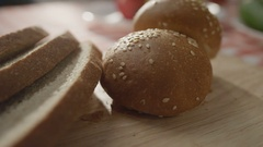 A bread on a board Stock Footage
