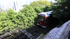 The Peak Tram Stock Footage