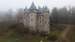 Castle in the Park Stock Footage