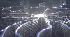 Artificial Intelligence Neural Network Stock Illustration