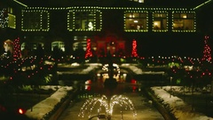 Magic of Christmas in Winter - Butchart Gardens Stock Footage