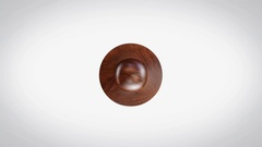 Natural 3D Animated Round Wooden Stamp Animation Stock Footage