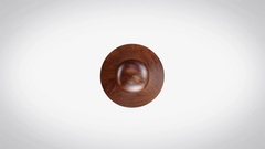 Selected 3D Animated Round Wooden Stamp Animation Arkistovideo