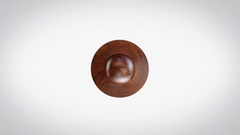 Eco Friendly 3D Animated Round Wooden Stamp Animation Stock Footage