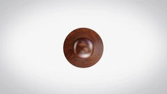 Authorized 3D Animated Round Wooden Stamp Animation Stock Footage